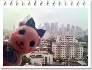 新宿高層ビル街がきれいに見えました。別角度でスカイツリーもいらっしゃいました。